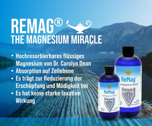 ReMag - The Magnesium Miracle | Dr. Dean´s piko-ionisches flüssiges Magnesium - 480ml