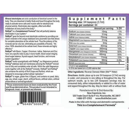 ReMyte - Minerallösung | Dr. Dean´s piko-ionische Multimineral-Lösung - 240ml